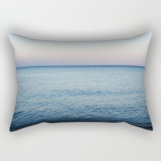 Sea. Evening Calm Rectangular Pillow