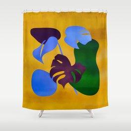 Golden Tropics Shower Curtain