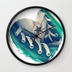 Converse Love in White Wall Clock