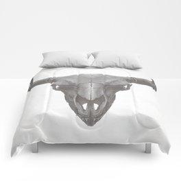 American Bison Skull Comforters