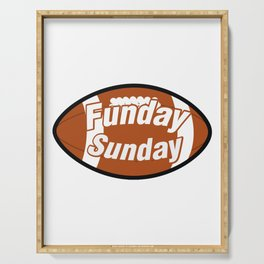 Funday Funny Football for Sport Lovers Serving Tray