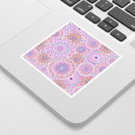 Mandala Maze Pink Sticker
