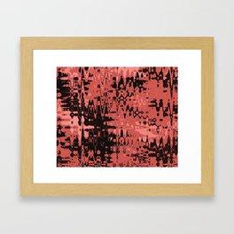 Splash Red Framed Art Print