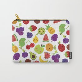 Funny colorful happy cute summer fruit pattern Carry-All Pouch