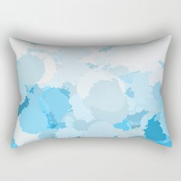 Blue watercolor abstract splatter Rectangular Pillow