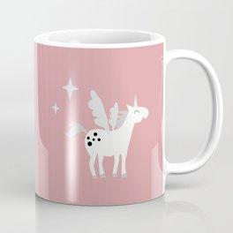 Unicorns on a pink sky Coffee Mug