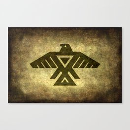 Symbol of the Anishinaabe, Ojibwe (Chippewa) on  parchment Canvas Print