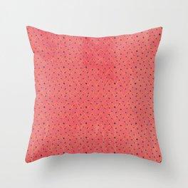 Modern black pink yellow watercolor chevron polka dots pattern Throw Pillow