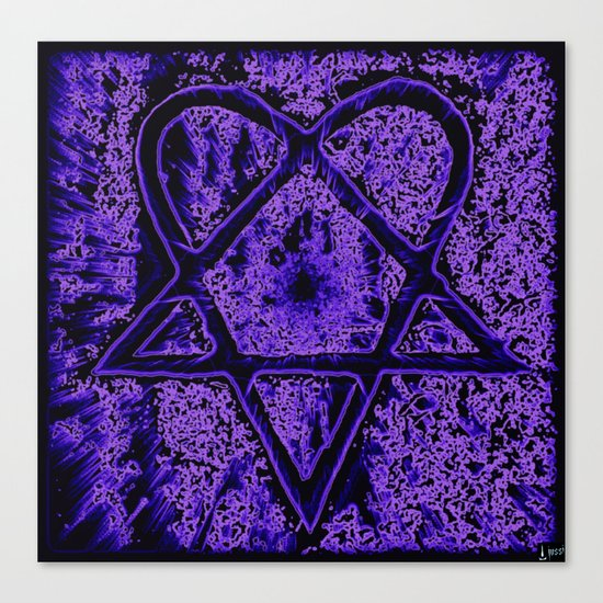 Violet Thoughts - Heartagram Canvas Print