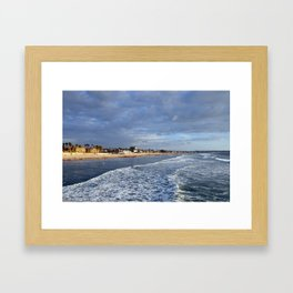 San Diego Pacific Beach just before sunset Framed Art Print