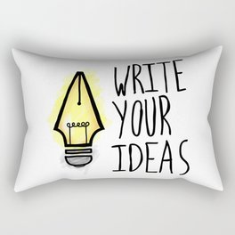 Write Your Ideas Rectangular Pillow