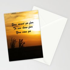 How far you can go Stationery Cards