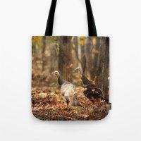 turkey Tote Bags featuring Wild Turkey by Jai Johnson