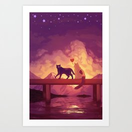 Forever Alone Together Art Print