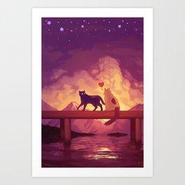 Forever Alone Together Art Print