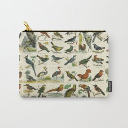 Natural History Birds Poster - sooo many! Carry-All Pouch