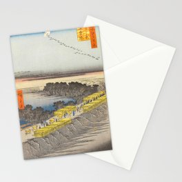 Nihon Embankment Landscape Vintage Ukiyo-e Japanese Art Stationery Cards