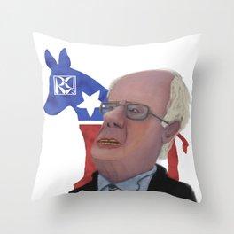 Bernie Sanders Caricature Throw Pillow