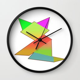 MY MOTHER'S BEST TANGRAM KITTEN  Wall Clock