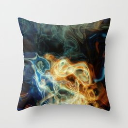 Smoke background Throw Pillow