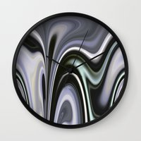 vertigo Wall Clocks featuring Vertigo by Dorothy Pinder