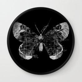 Butterfly Wanderlust Wall Clock