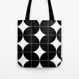Modular Black and White Repeated Pattern Design Tote Bag