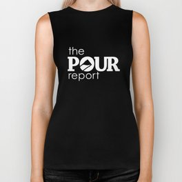 The Pour Report (White) Biker Tank