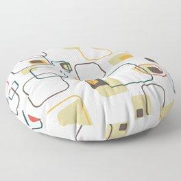Mid-Century Modern Hep Cat (gold) Floor Pillow