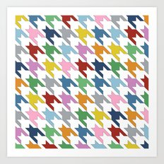 Houndstooth Colour Art Print