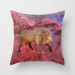 Taurus and Nebula Throw Pillow