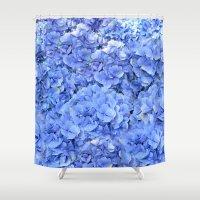 hydrangea Shower Curtains featuring Hydrangea by Anne Seltmann