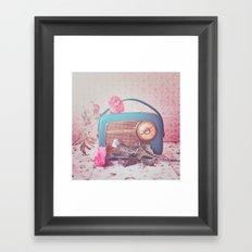 Vintage Radio. Framed Art Print