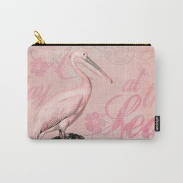 Retro Pelican Vintage Style Illustration Carry-All Pouch