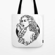 Flora (Line Art) Tote Bag