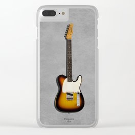 The 1959 Esquire Guitar Clear iPhone Case