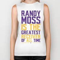 randy c Biker Tanks featuring Randy Moss by Couch Coaches