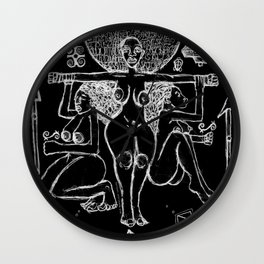 2013 Goddess of Balance (black design)  Wall Clock