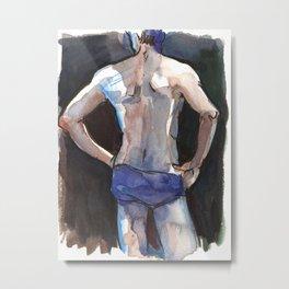 SETH, Semi-Nude Male by Frank-Joseph Metal Print
