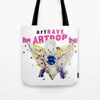artrave Tote Bags featuring ARTPOP artRAVE by KS Art
