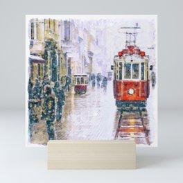 Istanbul Nostalgic Tramway Mini Art Print