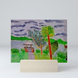 Woodstork birding trail - Florida Mini Art Print