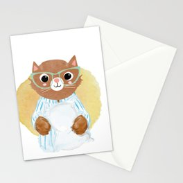 Funny cat's pajamas shirt - gift for cat lovers Stationery Cards