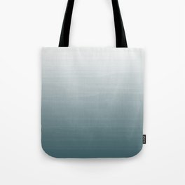 White to dark duck egg greyish blue gradient ombre painted appearance Tote Bag