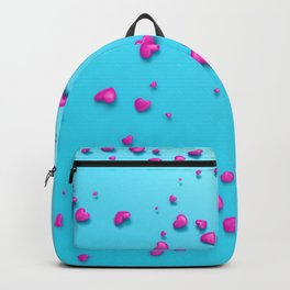 VALENTINE HEARTS - Pink Plastic Hearts Backpack