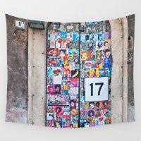 madonna Wall Tapestries featuring Piazza Duca di Genova 17 - Catania - Sicily by CAPTAINSILVA