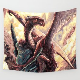 Little Red Dragon Wall Tapestry