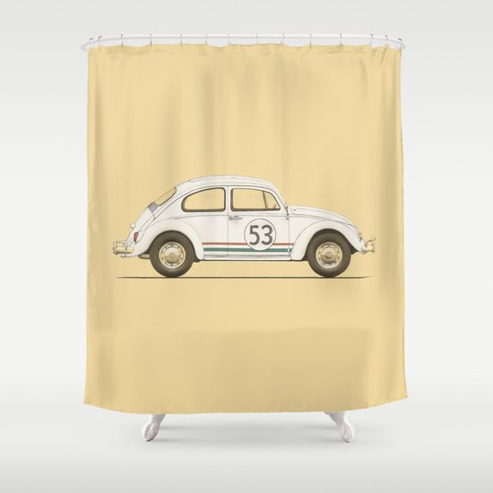 Famous Car #4 - VW Beetle Shower Curtain
