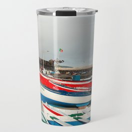 Rainbow at the harbour Travel Mug