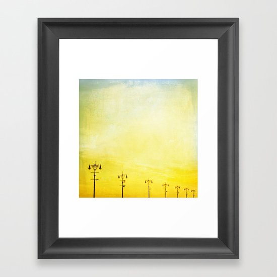 Coney Island Boardwalk Framed Art Print